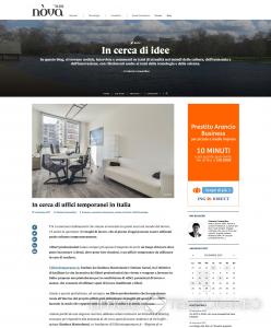 Schermata dell'articolo su Ufficiotemporaneo.it sul blog di Nova Sola 24 ore